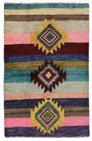 Moroccan Berber - Afghanistan Matto 87X139 Moderni Käsinsolmittu Musta/Ruskea (Villa, Afganistan)