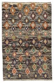 Moroccan Berber - Afghanistan Matto 89X138 Moderni Käsinsolmittu Tummanruskea/Musta (Villa, Afganistan)