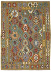 Kelim Afghan Old Style Matto 141X197 Itämainen Käsinkudottu Vaaleanruskea/Tummanpunainen (Villa, Afganistan)