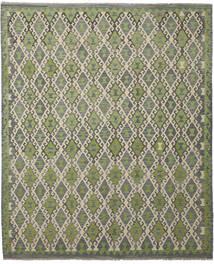 Kelim Afghan Old Style Matto 252X300 Itämainen Käsinkudottu Tummanharmaa/Vaaleanvihreä Isot (Villa, Afganistan)