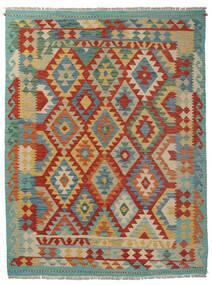 Kelim Afghan Old Style Matto 155X200 Itämainen Käsinkudottu Tummanpunainen/Ruskea (Villa, Afganistan)