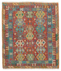 Kelim Afghan Old Style Matto 161X183 Itämainen Käsinkudottu Musta/Tummanpunainen (Villa, Afganistan)