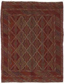 Kelim Golbarjasta Matto 150X197 Itämainen Käsinkudottu Musta/Tummanruskea (Villa, Afganistan)