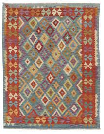 Kelim Afghan Old Style Matto 159X198 Itämainen Käsinkudottu Tummanruskea/Tummanharmaa (Villa, Afganistan)