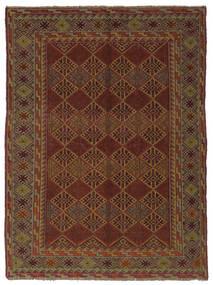 Kelim Golbarjasta Matto 144X187 Itämainen Käsinkudottu Musta/Tummanruskea (Villa, Afganistan)