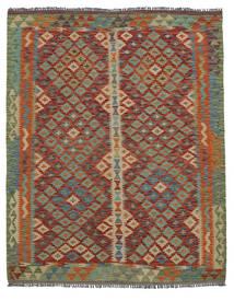 Kelim Afghan Old Style Matto 156X193 Itämainen Käsinkudottu Tummanruskea/Tummanvihreä (Villa, Afganistan)