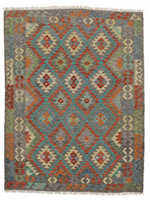 Kelim Afghan Old Style Matto 150X190 Itämainen Käsinkudottu Tummanruskea/Tummanvihreä (Villa, Afganistan)