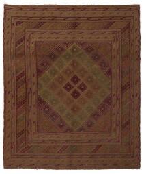Kelim Golbarjasta Matto 155X175 Itämainen Käsinkudottu Musta/Beige (Villa, Afganistan)