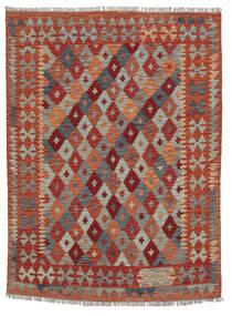 Kelim Afghan Old Style Matto 154X200 Itämainen Käsinkudottu Tummanpunainen/Tummanruskea (Villa, Afganistan)