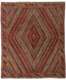 Kelim Golbarjasta Matto 143X163 Itämainen Käsinkudottu Musta/Tummanruskea (Villa, Afganistan)