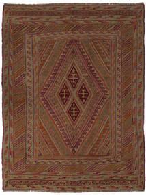 Kelim Golbarjasta Matto 145X190 Itämainen Käsinkudottu Musta/Tummanruskea (Villa, Afganistan)