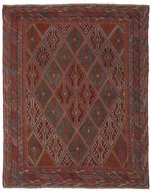 Kelim Golbarjasta Matto 143X183 Itämainen Käsinkudottu Musta/Tummanruskea (Villa, Afganistan)