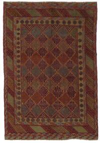 Kelim Golbarjasta Matto 140X195 Itämainen Käsinkudottu Musta/Tummanruskea (Villa, Afganistan)