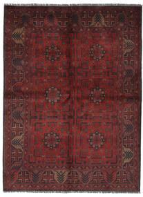 Afghan Khal Mohammadi Matto 145X200 Itämainen Käsinsolmittu Musta/Tummanruskea (Villa, Afganistan)