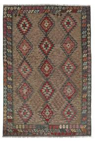 Kelim Afghan Old Style Matto 176X258 Itämainen Käsinkudottu Tummanruskea/Musta (Villa, Afganistan)