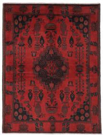 Afghan Khal Mohammadi Matto 150X202 Itämainen Käsinsolmittu Musta/Tummanpunainen (Villa, Afganistan)