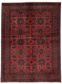 Afghan Khal Mohammadi Matto 149X200 Itämainen Käsinsolmittu Musta/Tummanpunainen (Villa, Afganistan)