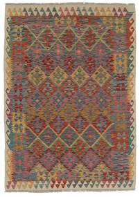 Kelim Afghan Old Style Matto 124X170 Itämainen Käsinkudottu Tummanruskea/Musta (Villa, Afganistan)