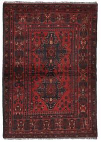 Afghan Khal Mohammadi Matto 105X152 Itämainen Käsinsolmittu Musta/Tummanruskea (Villa, Afganistan)