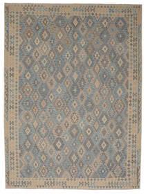 Kelim Afghan Old Style Matto 297X395 Itämainen Käsinkudottu Tummanharmaa/Ruskea Isot (Villa, Afganistan)