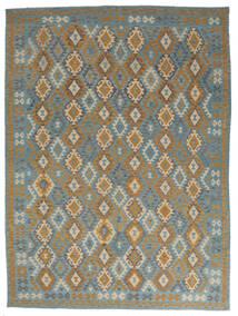 Kelim Afghan Old Style Matto 255X341 Itämainen Käsinkudottu Tummanruskea/Musta Isot (Villa, Afganistan)