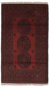 Afghan Matto 100X174 Itämainen Käsinsolmittu Musta (Villa, Afganistan)