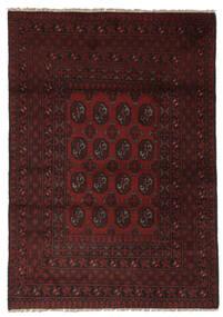 Afghan Matto 114X165 Itämainen Käsinsolmittu Musta (Villa, Afganistan)