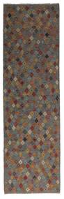 Kelim Afghan Old Style Matto 88X295 Itämainen Käsinkudottu Käytävämatto Musta/Tummanruskea (Villa, Afganistan)