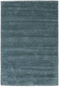 Handloom Fringes - Toissijainen Matto 160X230 Moderni Musta/Tummansininen (Villa, Intia)