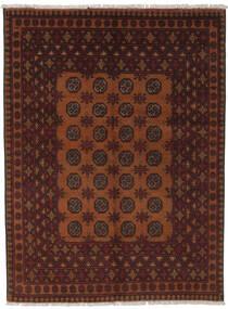 Afghan Matto 145X195 Itämainen Käsinsolmittu Musta/Tummanruskea (Villa, Afganistan)