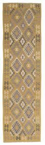 Kelim Afghan Old Style Matto 80X300 Itämainen Käsinkudottu Käytävämatto Ruskea/Beige (Villa, Afganistan)