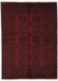 Afghan Matto 162X226 Itämainen Käsinsolmittu Musta (Villa, Afganistan)