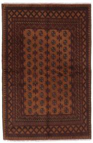 Afghan Matto 157X239 Itämainen Käsinsolmittu Musta/Tummanruskea (Villa, Afganistan)