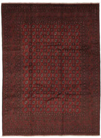 Afghan Matto 245X335 Itämainen Käsinsolmittu Musta (Villa, Afganistan)