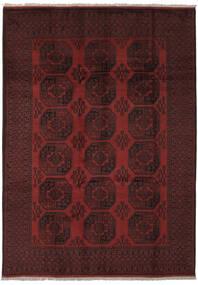 Afghan Matto 205X285 Itämainen Käsinsolmittu Musta (Villa, Afganistan)