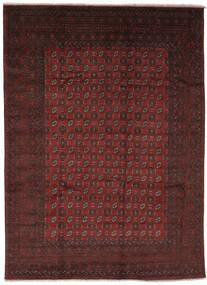 Afghan Matto 243X327 Itämainen Käsinsolmittu Musta/Tummanruskea (Villa, Afganistan)