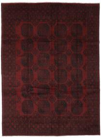 Afghan Matto 252X333 Itämainen Käsinsolmittu Musta Isot (Villa, Afganistan)