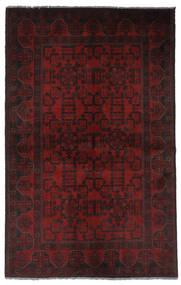 Afghan Khal Mohammadi Matto 125X199 Itämainen Käsinsolmittu Musta (Villa, Afganistan)