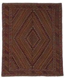 Kelim Golbarjasta Matto 142X170 Itämainen Käsinkudottu Musta/Beige (Villa, Afganistan)