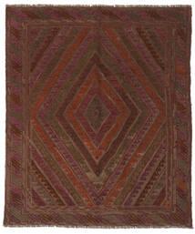 Kelim Golbarjasta Matto 150X170 Itämainen Käsinkudottu Musta/Tummanruskea (Villa, Afganistan)