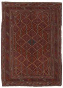 Kelim Golbarjasta Matto 140X188 Itämainen Käsinkudottu Musta (Villa, Afganistan)