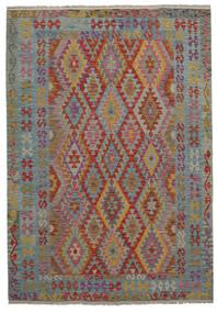 Kelim Afghan Old Style Matto 177X288 Itämainen Käsinkudottu Tummanruskea/Tummanharmaa (Villa, Afganistan)