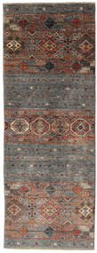 Shabargan Matto 77X208 Moderni Käsinsolmittu Käytävämatto Tummanruskea/Musta (Villa, Afganistan)