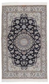 Nain 9La Matto 131X209 Itämainen Käsinsolmittu Musta/Tummanharmaa/Vaaleanharmaa (Villa/Silkki, Persia/Iran)