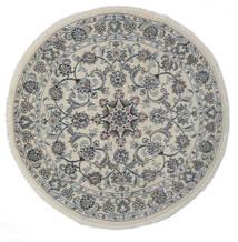 Nain Matto Ø 150 Itämainen Käsinsolmittu Pyöreä Tummanharmaa/Valkoinen/Creme (Villa, Persia/Iran)