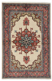 Ardebil Matto 135X206 Itämainen Käsinsolmittu Musta/Tummanruskea (Villa, Persia/Iran)