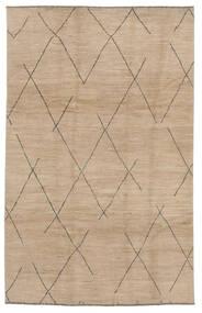 Moroccan Berber - Afghanistan Matto 192X297 Moderni Käsinsolmittu Ruskea/Vaaleanruskea (Villa, Afganistan)