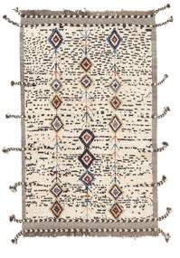 Moroccan Berber - Afghanistan Matto 112X183 Moderni Käsinsolmittu Valkoinen/Creme/Tummanruskea/Beige (Villa, Afganistan)