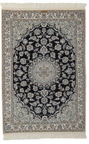 Nain 9La Matto 105X155 Itämainen Käsinsolmittu Musta/Tummanharmaa (Villa/Silkki, Persia/Iran)