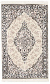 Nain 9La Matto 119X190 Itämainen Käsinsolmittu Tummanharmaa/Beige/Vaaleanharmaa (Villa/Silkki, Persia/Iran)